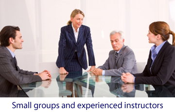 Business English language training in small groups